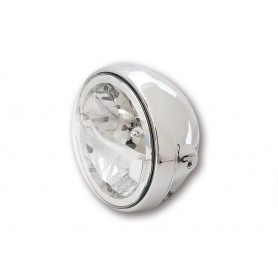 Phares HIGHSIDER HIGHSIDER 7 POUCES PHARE LED BRITISH-STYLE TYPE 4 CHROME 223-156