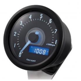 Tachometers DAYTONA DAYTONA COMPTE TOUR VELONA NOIR A LED FOND BLANC 8 000 TR / MIN 86864