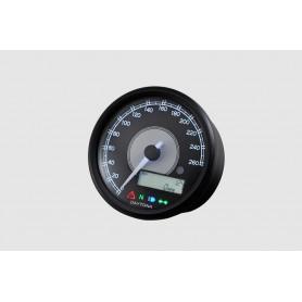 Compteurs DAYTONA DAYTONA VELONA 80MM 260 KMH COMPTEUR VITESSE ET RPM LCD 87791 87791