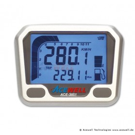 Compteurs ACEWELL COMPTEUR DIGITAL ACEWELL MODELE 3851 SILVER YFM660R ACE-3851