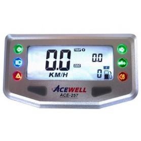 Compteurs ACEWELL COMPTEUR DIGITAL ACEWELL MODELE 257 SILVER IM-ACE-257