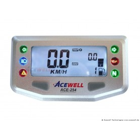 Compteurs ACEWELL COMPTEUR DIGITAL ACEWELL MODELE 254 SILVER ACE-254
