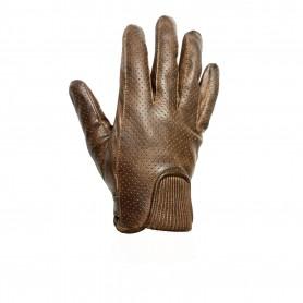 Men's Gloves HELSTONS GANTS HELSTONS CHARLY ÉTÉ CUIR PERFORE CAMEL NOIR 20180022 CN