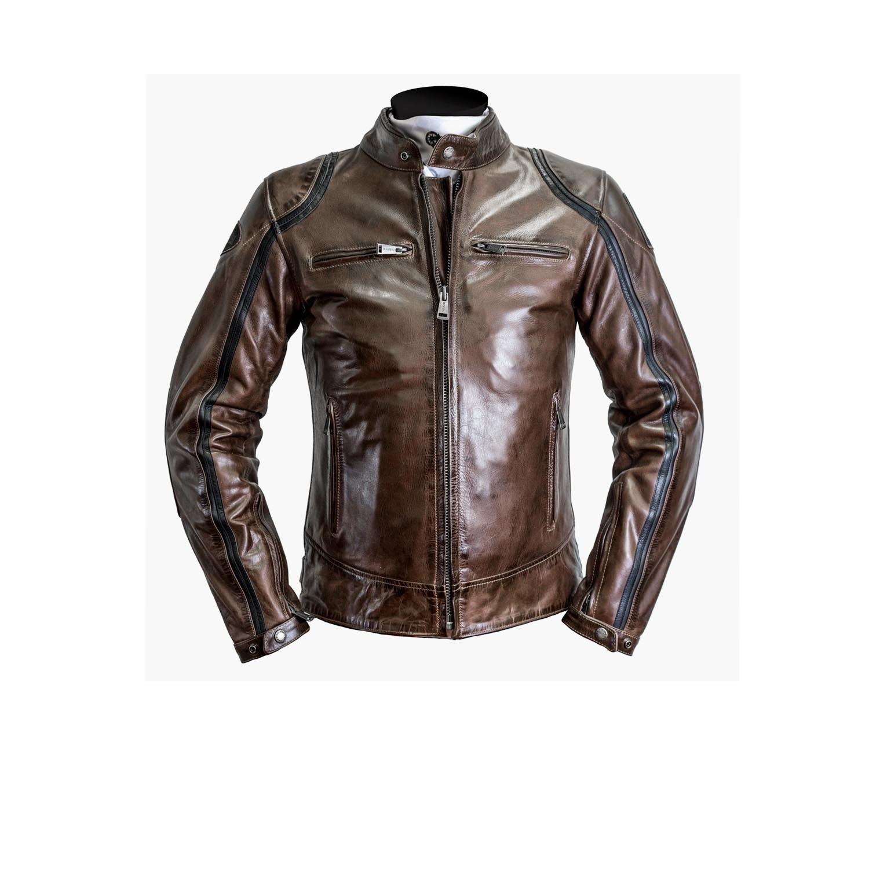 Blouson helstons modelo cuir rag camel noir blouson for Garage 4 fois sans frais 77