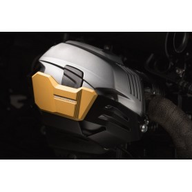 Caches Cylindres SW-MOTECH SW-MOTECH PROTECTIONS CYLINDRES NOIR OR POUR BMW R1200 R/GS/ADV MSS.07.754.10000/GD