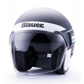 Casques BLAUER CASQUE BLAUER POD STRIPES NOIR BLANC ROUGE BLCJ123