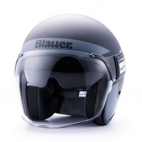 Casques BLAUER CASQUE BLAUER POD STRIPES NOIR BLANC TITANE BLCJ125