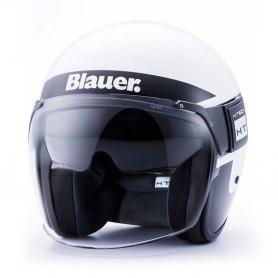 Casques BLAUER CASQUE BLAUER POD STRIPES BLANC NOIR TITANE BLCJ126