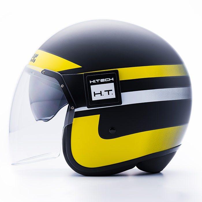 Casque blauer pod stripes noir jaune blanc mat casque for Garage 4 fois sans frais 77