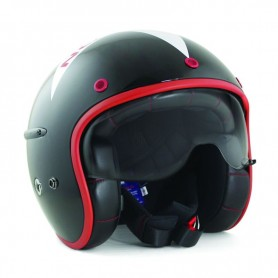 Helmets HARISSON CASQUE HARISSON CORSAIR STELLAR NOIR BLANC ROUGE CA117