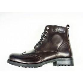 Men's Boots HELSTONS DEMI-BOTTES HELSTONS CARDINAL CUIR ANILINE BORDEAUX-NOIR 20180065 BO