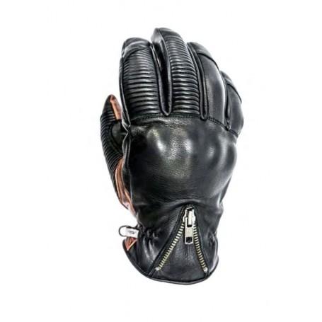 Men's Gloves HELSTONS GANTS HELSTONS DOCK HIVER CUIR CHÉVRE NOIR-CAMEL PRIMALOFT 20180077 NC