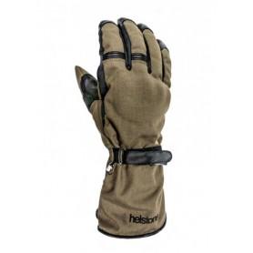 Men's Gloves HELSTONS GANTS HELSTONS CHALLENGER HIVER TISSU TECHNIQUE-CUIR KAKI-NOIR 20180076 KN