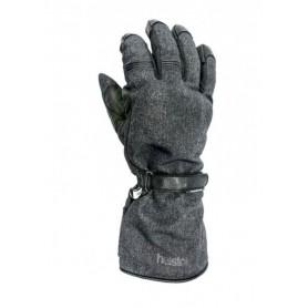 Men's Gloves HELSTONS GANTS HELSTONS CHALLENGER HIVER TISSU TECHNIQUE-CUIR GRIS-NOIR 20180076 GN