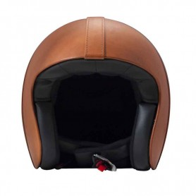 Casques JET DMD CASQUE DMD CUIR BOWL DARK ORANGE D1JTL30000BO