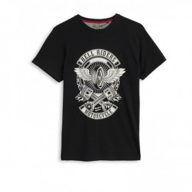 Tee-Shirts Hommes HELSTONS HELSTONS T-SHIRT CHEVIGNON MOTORCYCLE NOIR GHCTC031 NO