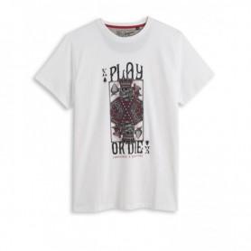 Tee-Shirts Hommes HELSTONS HELSTONS T-SHIRT CHEVIGNON PLAY BLANC GHCTC033 BLC