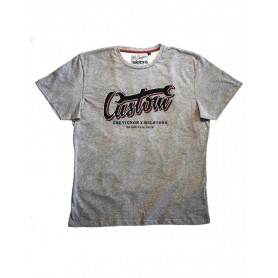 Tee-Shirts Hommes HELSTONS HELSTONS T-SHIRT CHEVIGNON CUSTOM GRIS CHINÉ GHCTC032 GC