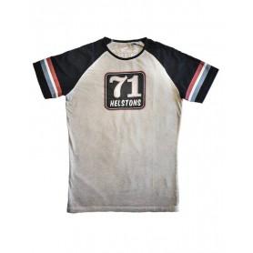 Tee-Shirts Hommes HELSTONS HELSTONS T-SHIRT 71 COTON GRIS-NOIR 20170055 GN