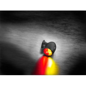 Turn Signals KELLERMANN CLIGNOTANT LED KELLERMANN BULLET ATTO DF NOIR VERRE CLAIR (3 FONCTIONS) 156.200