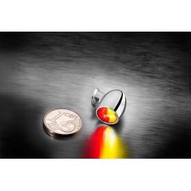 Clignotants KELLERMANN CLIGNOTANT LED KELLERMANN BULLET ATTO DF CHROME VERRE CLAIR (3 FONCTIONS) 200-294