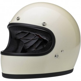 Helmets BILTWELL HELMET BILTWELL GRINGO GLOSS VINTAGE BLANC