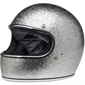 Helmets BILTWELL HELMET BILTWELL GRINGO BRITE SILVER MEGAFLAKE