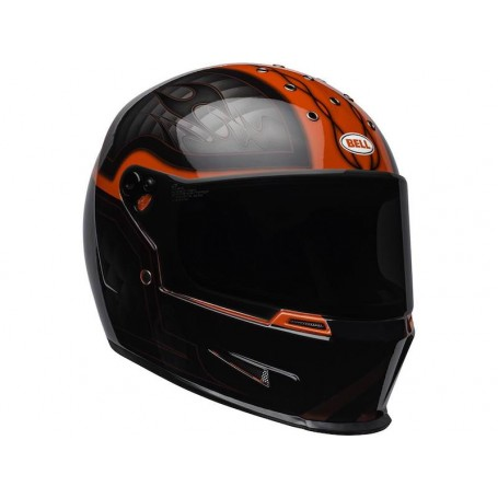 Casques BELL CASQUE BELL ELIMINATOR OUTLAW NOIR BRILLANT/ROUGE