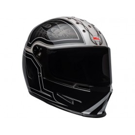 CASQUE BELL ELIMINATOR OUTLAW GLOSS BLACK/WHITE