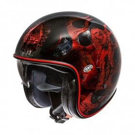 Jets Helmets PREMIER HELMET PREMIER VINTAGE BD RED CHROMED