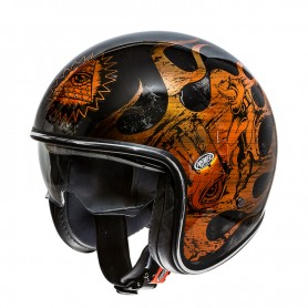 Casques PREMIER CASQUE PREMIER VINTAGE BD ORANGE CHROMED