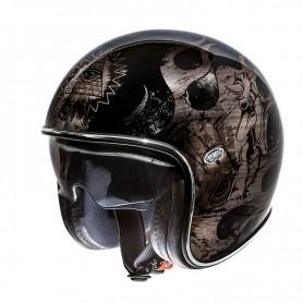 Jets Helmets PREMIER HELMET PREMIER VINTAGE BD BLACK CHROMED