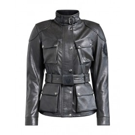 Women's Jackets BELSTAFF BELSTAFF TRIALMASTER PRO W LADY LEATHER JACKET BLACK 42050011
