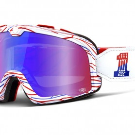 Goggles 100% LUNETTES 100% BARSTOW DEATH SPRAY CUSTOMS - ECRAN MIRROIR ROUGE/BLEU 5000229802