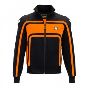 Men's Jackets BLAUER BLAUER EASY RIDER BLACK/ORANGE JACKET BLV233