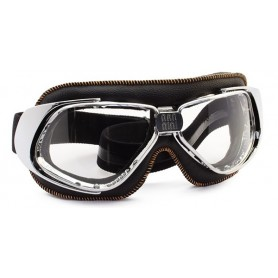 Goggles NANNINI LUNETTES NANNINI RIDER BLACK CHROME ORANGE ECRAN MIRROIR ARGENT RID-1173-6550