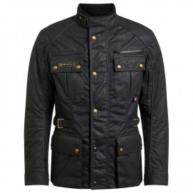 BELSTAFF TOURMASTER PRO JACKET TEC WAX BLACK