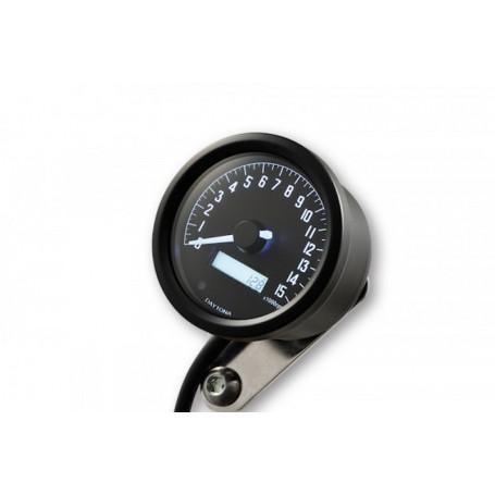 Tachometers DAYTONA DAYTONA COMPTE TOUR VELONA NOIR A LED FOND BLANC 8 000 TR / MIN 88645