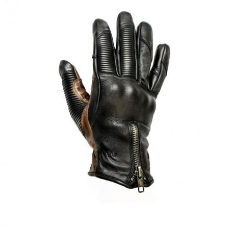 Men's Gloves HELSTONS GANTS HELSTONS SIDE ÉTÉ CUIR PERFORÉ NOIR 20180038 NC