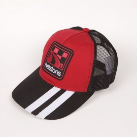 Casquettes HELSTONS CASQUETTE HELSTONS SHELBY ROUGE BLANC
