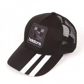 Caps HELSTONS CASQUETTE HELSTONS SHELBY NOIR BLANC