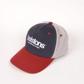 Caps HELSTONS CASQUETTE HELSTONS CORPORATE ROUGE BLEU GRIS