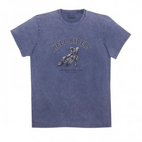 Tee-Shirts Hommes HELSTONS T-SHIRT HELSTONS CHEVIGNON HELL COTON BLEU INDIGO