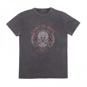 Tee-Shirts Hommes HELSTONS T-SHIRT HELSTONS CHEVIGNON GAME COTON NOIR