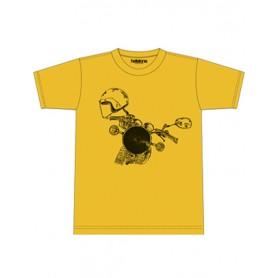 Tee-Shirts Hommes HELSTONS T-SHIRT HELSTONS HEADLIGHT COTON JAUNE