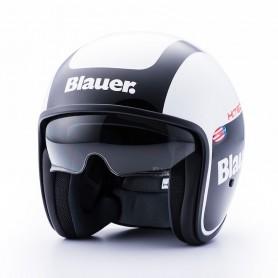 Jets Helmets BLAUER BLAUER PILOT 1.1 GRAPHIC G WHITE/BLACK BRIGHT HELMET BLCJ206