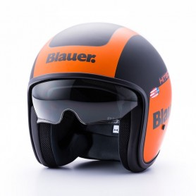 Casques JET BLAUER CASQUE BLAUER PILOT 1.1 GRAPHIC G NOIR MAT/ORANGE BLCJ205