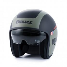 Jets Helmets BLAUER BLAUER PILOT 1.1 GRAPHIC G BLACK MATTE/GREEN KAKI HELMET BLCJ204