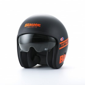 Casques JET BLAUER CASQUE BLAUER PILOT NOIR/ORANGE  BLCJ116