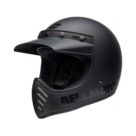 Casques BELL CASQUE BELL MOTO-3 CLASSIC NOIR MAT/BRILLANT BLACKOUT 800000540168